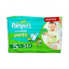 Pampers Active Boy Baby Pants 5 Junior 34pcs