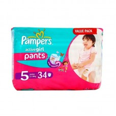 Pampers Active Girl Baby Pants 5 Junior 34pcs