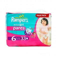 Pampers Active Girl Baby Pants 6 XLarge 33pcs