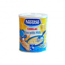 Nestle Cerelac Rice With Milk Baby Food Tin 400gm