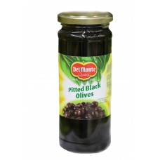Delmonte Pitted Black Olives Jar 450gm