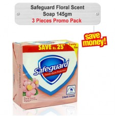 Safeguard Floral Scent Soap Promo Pack 145gm 3pcs