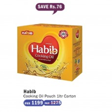 Habib Cooking Oil Pouch 1ltr